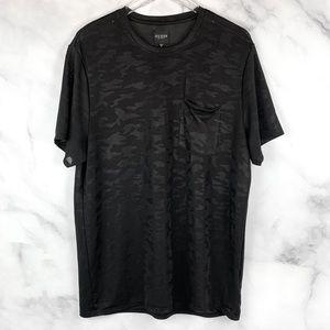 🔥Guess Mesh Camo Camouflage Pocket T-Shirt Tee XL